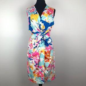 JB By Julie Brown Floral Stretch Sheath Dress 1X